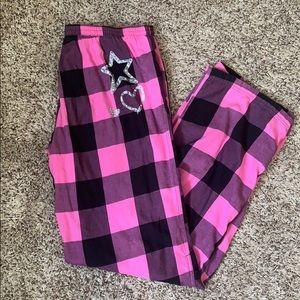 Pink VS Blinged Checkered Wide Leg Lounge Pants